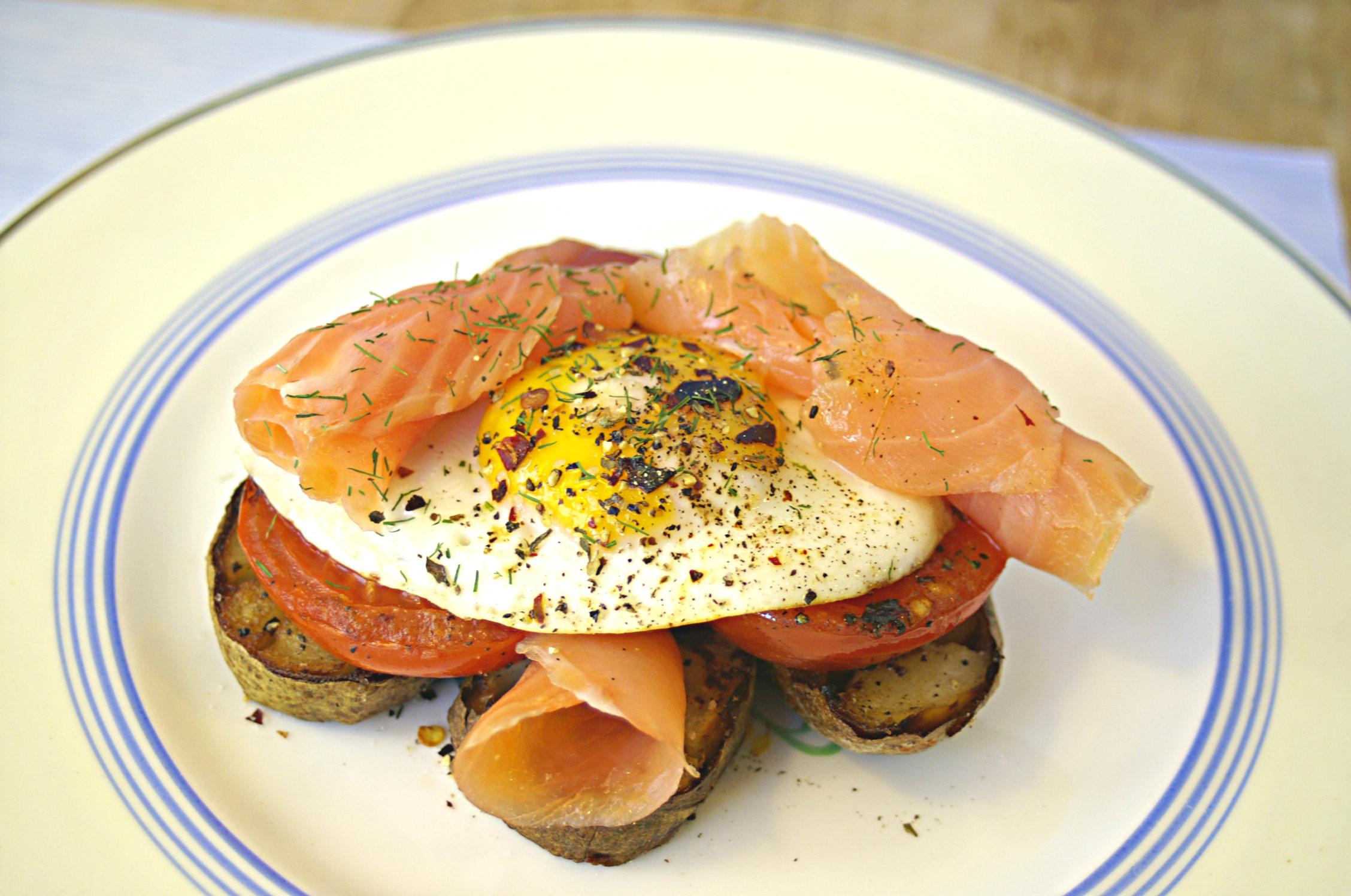 Salmon For Breakfast Healthy  salmon and eggs breakfast healthy