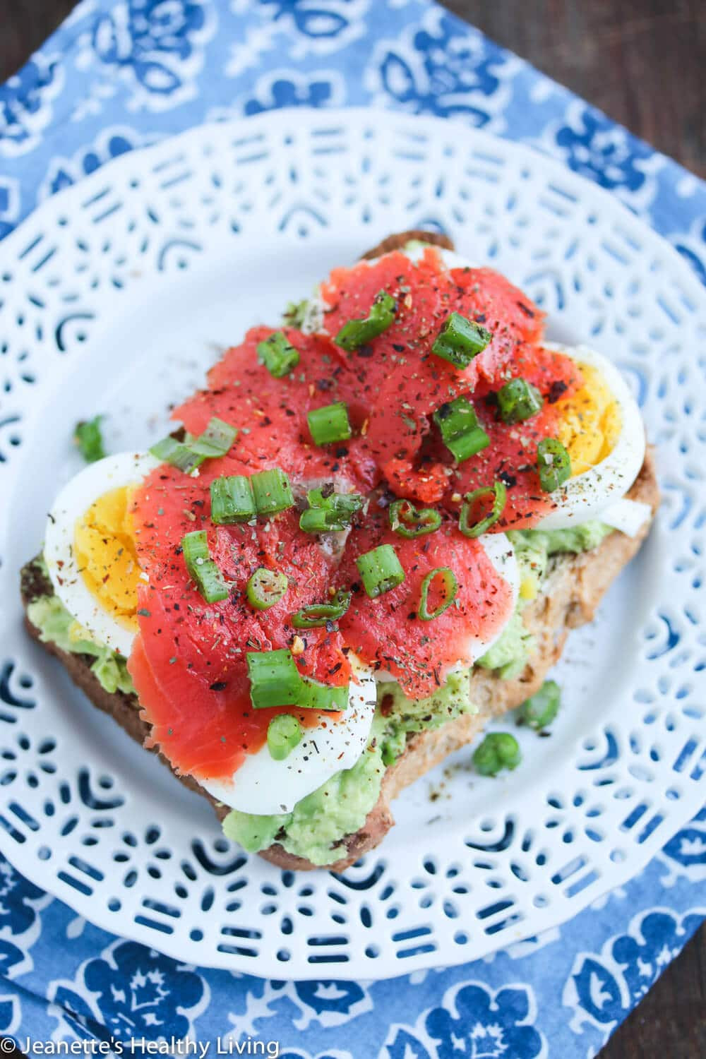 Salmon For Breakfast Healthy  Smashed Avocado Toast with Egg and Smoked Salmon