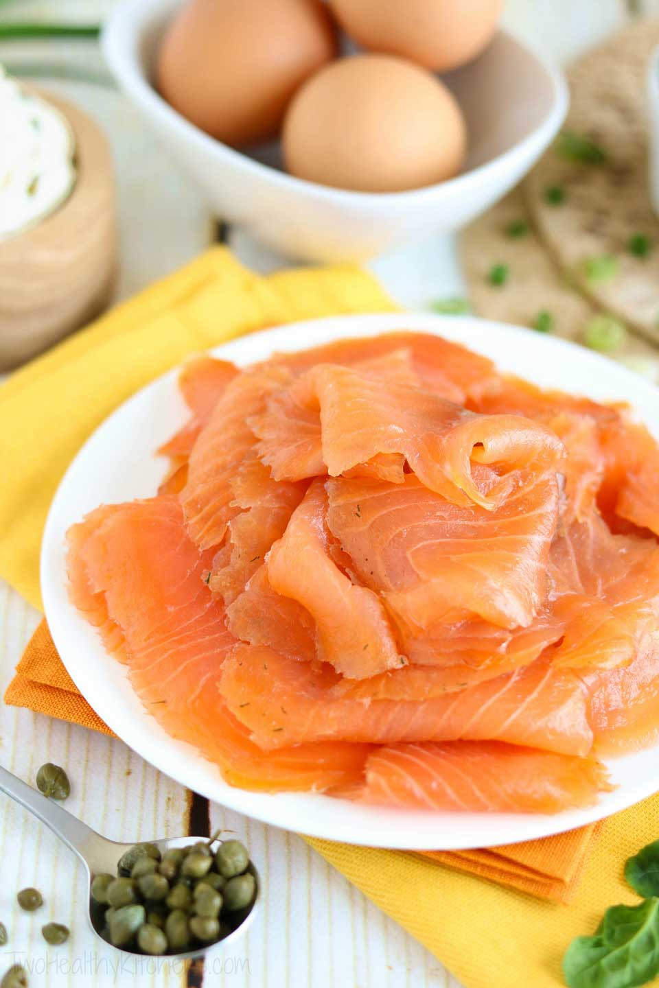 Salmon For Breakfast Healthy  Easy Smoked Salmon Breakfast Wrap Two Healthy Kitchens
