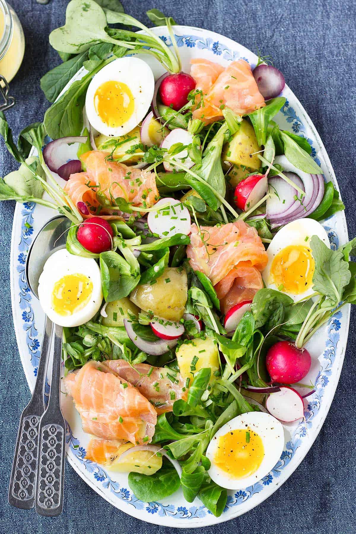 Salmon Salad Recipe Healthy  Salmon Salad with Dijon Vinaigrette Nutritionist meets Chef