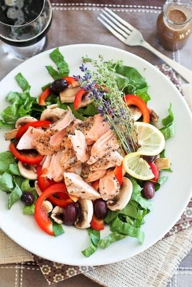 Salmon Salad Recipe Healthy  Quick Leftover Salmon Salad