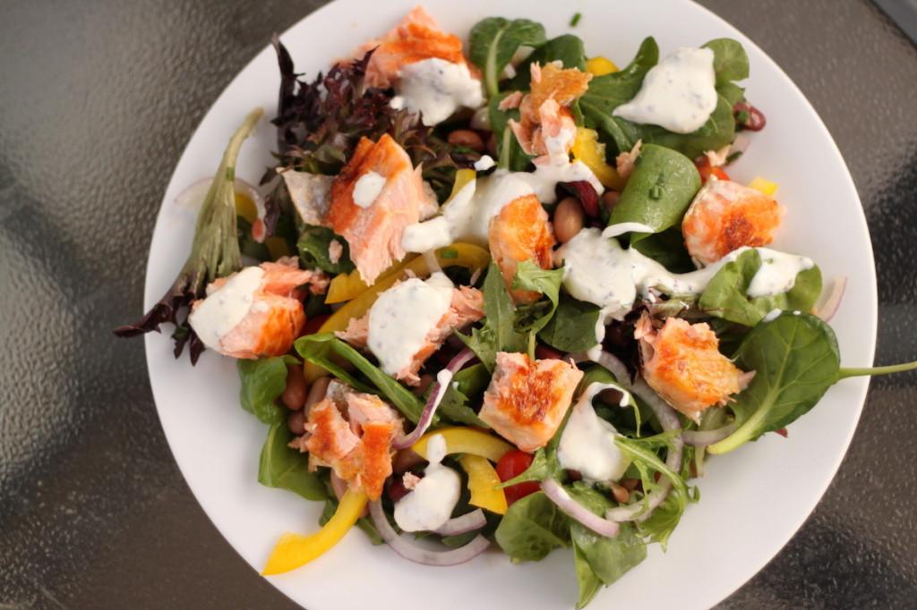 Salmon Salad Recipe Healthy  Salmon Salad with Yoghurt Dressing Recipe The Healthy