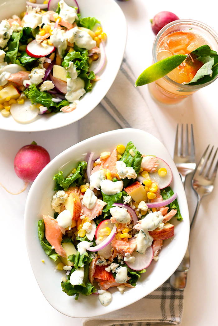 Salmon Salad Recipe Healthy  Easy Salmon Salad with Greek Yogurt Dill Dressing Fit