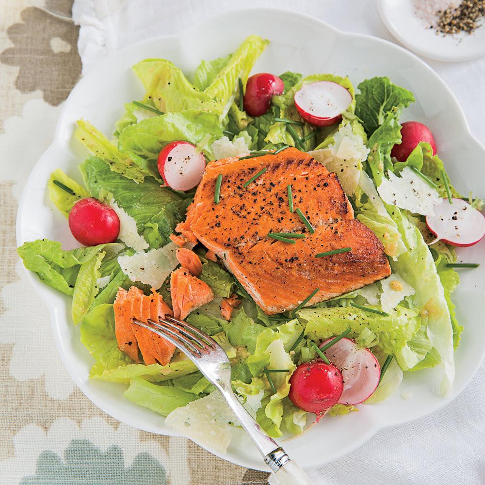 Salmon Salad Recipe Healthy  Grilled Salmon Caesar Salad 33 Healthy Salad Recipes