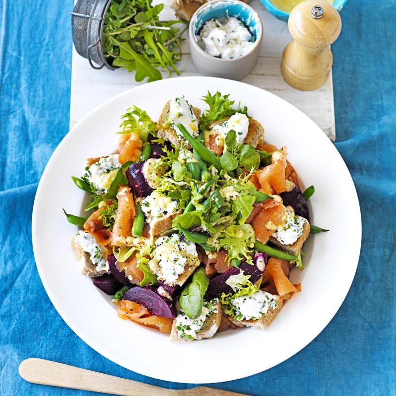 Salmon Salad Recipe Healthy  Beetroot and salmon salad Healthy Recipe