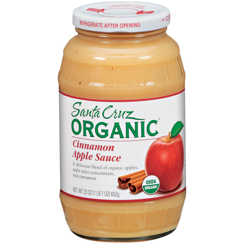 Santa Cruz Organic Applesauce  Santa Cruz Organic Apple Cinnamon Sauce 23 oz