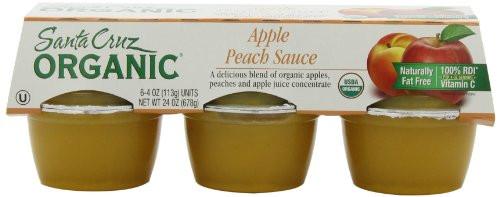 Santa Cruz Organic Applesauce  UPC Santa Cruz Organic Apple Peach Sauce 4