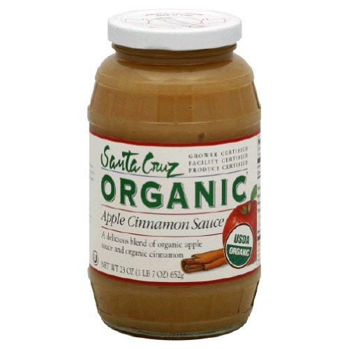 Santa Cruz Organic Applesauce  Santa Cruz Organic Apple Cinnamon Sauce 23 oz Food