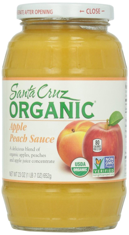 Santa Cruz Organic Applesauce  Santa Cruz Organic Apple Peach Sauce Jar 23 Oz
