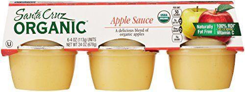 Santa Cruz Organic Applesauce  Santa Cruz Organic Applesauce 6 Count 4 Oz Each