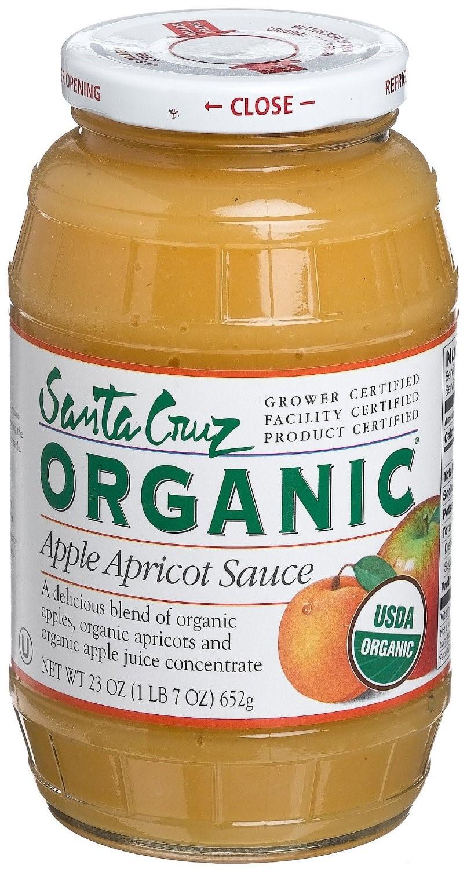 Santa Cruz Organic Applesauce  Santa Cruz Organic Apple Apricot Sauce Jar 23 Oz
