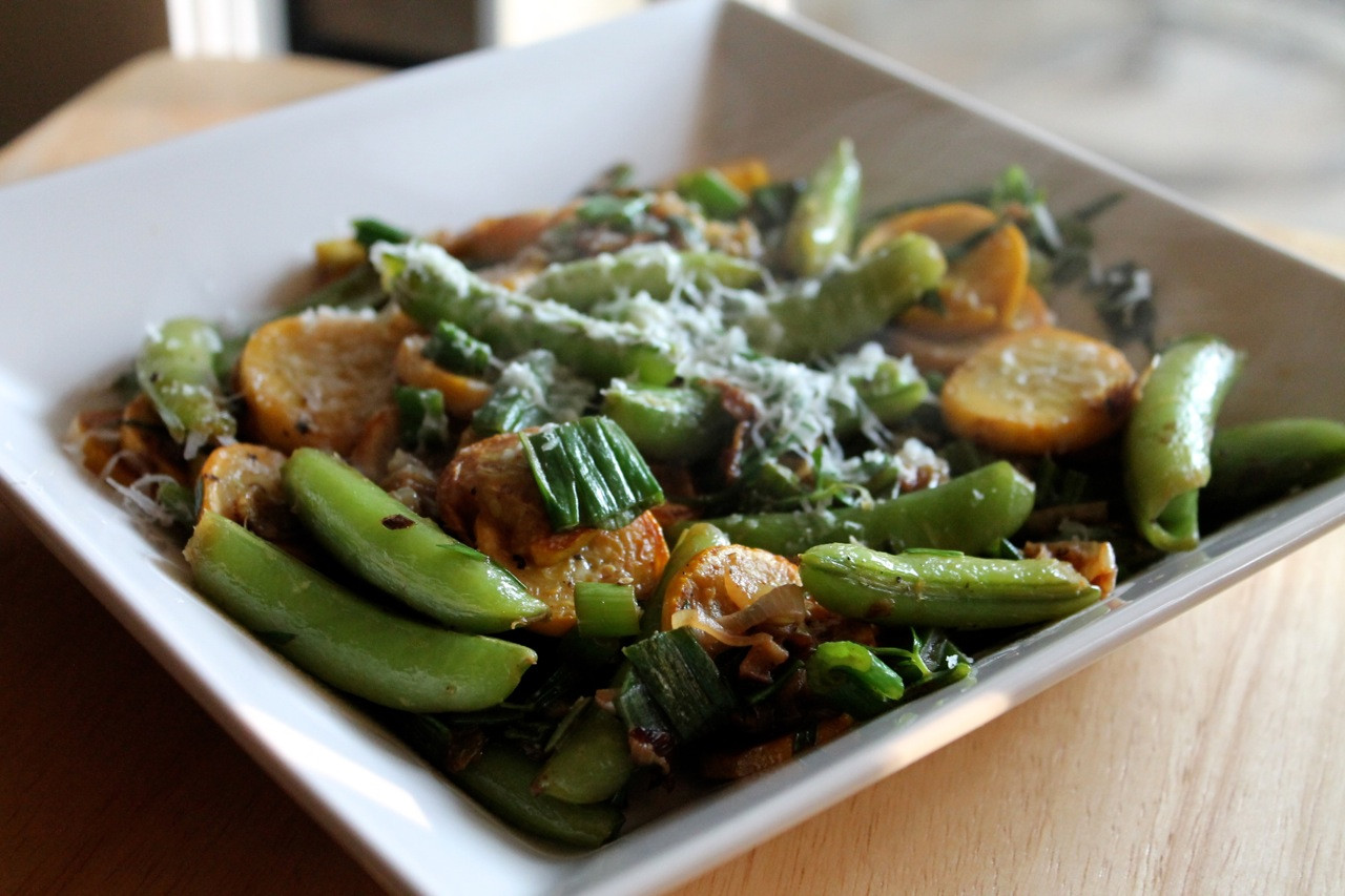 Sauteed Summer Squash  Cook In Dine Out Sautéed Summer Squash and Sugar Snap