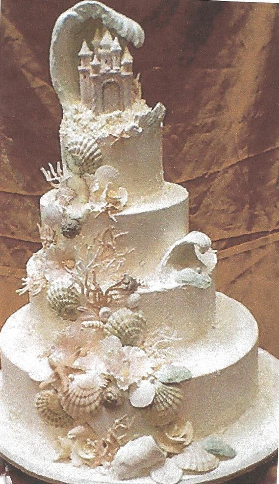 Seashell Wedding Cakes  Pin Seashell Wedding Is An Elegant And Romantic