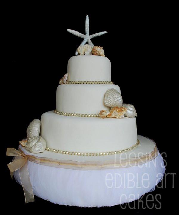 Seashell Wedding Cakes  Penang Wedding Cakes by Leesin Seashell Wedding Cake