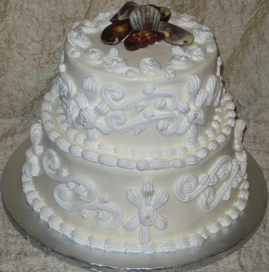 Seashell Wedding Cakes  Seashell Wedding Cake CakeCentral
