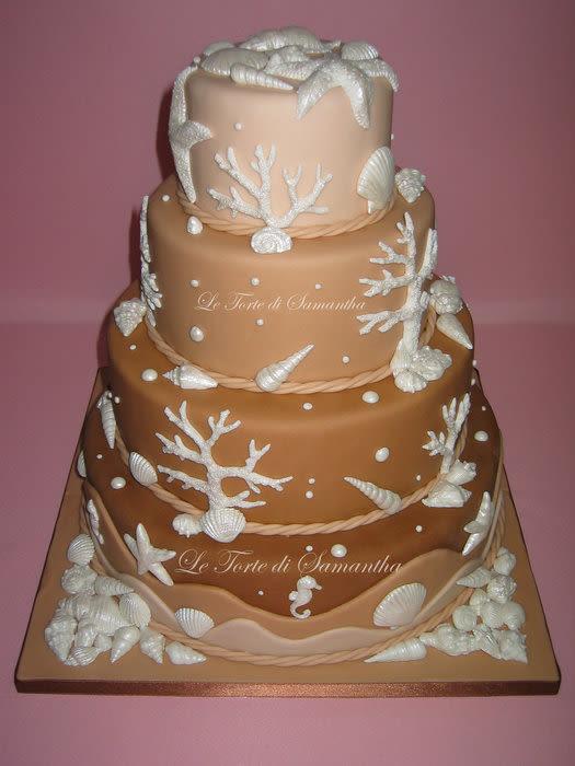 Seashell Wedding Cakes  SeaShell Wedding Cake Cake by Samantha Camedda CakesDecor