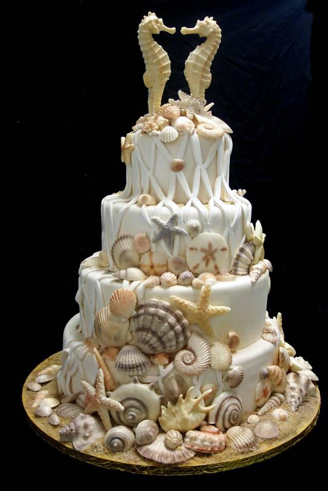 Seashell Wedding Cakes  shell1