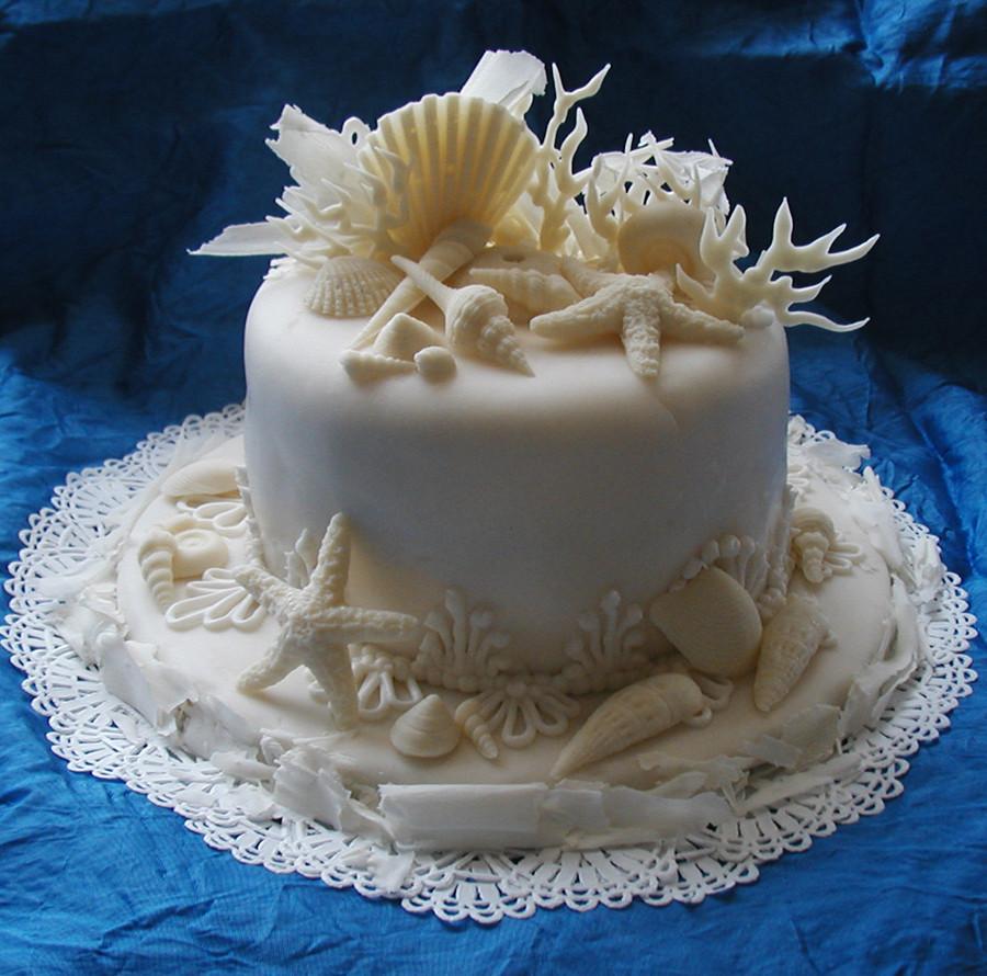 Seashells Wedding Cakes  Concertina Press Stationery and Invitations 5 Seashell