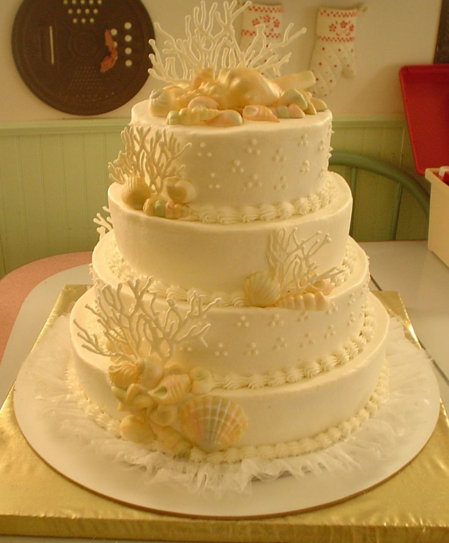 Seashells Wedding Cakes  Seashell Wedding Cake CakeCentral