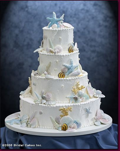 Seashells Wedding Cakes  Pinterest • The world's catalog of ideas