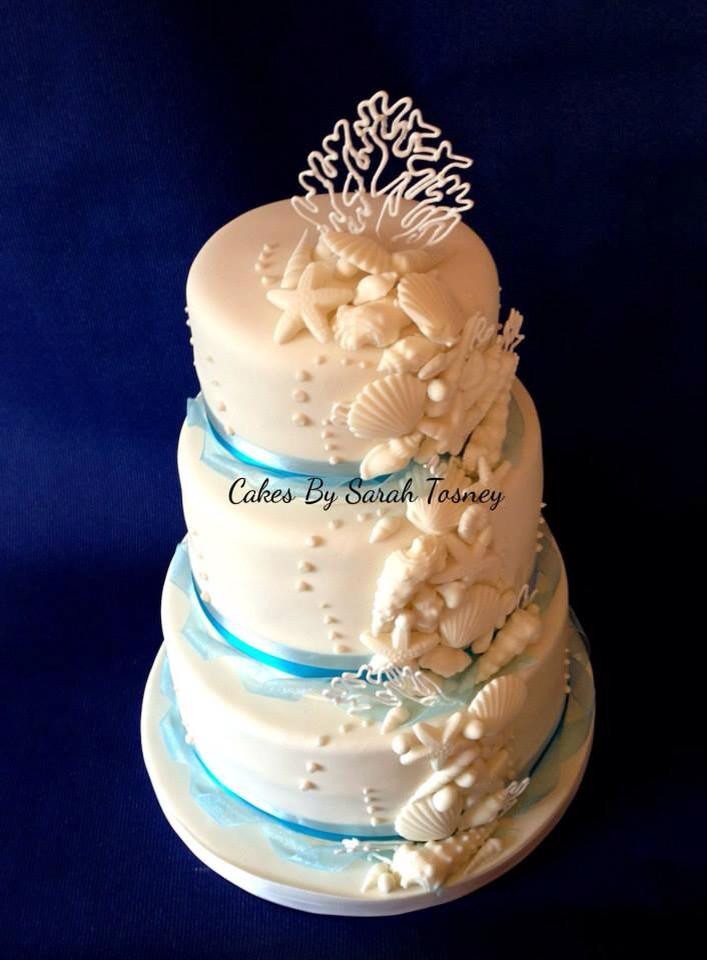 Seashells Wedding Cakes  Sea Shell Wedding Cakes Are A Perfect Fit For A Beach