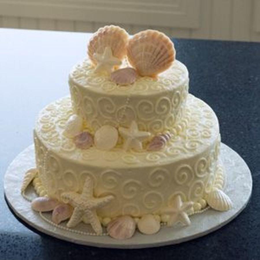 Seashells Wedding Cakes  Seashell Wedding Cake CakeCentral