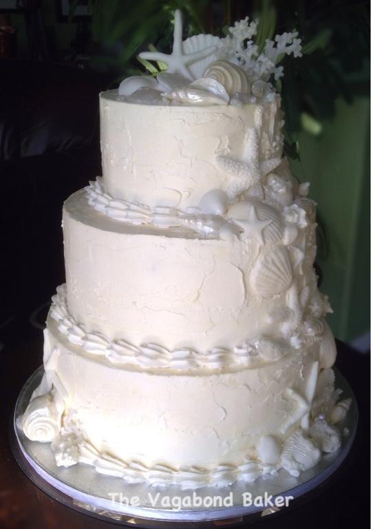 Seashells Wedding Cakes  Sun Sea and Sugar Beach Themed Wedding Cakes