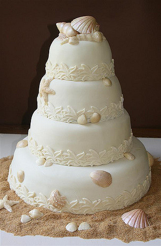 Seashells Wedding Cakes  Seashell Wedding Cake