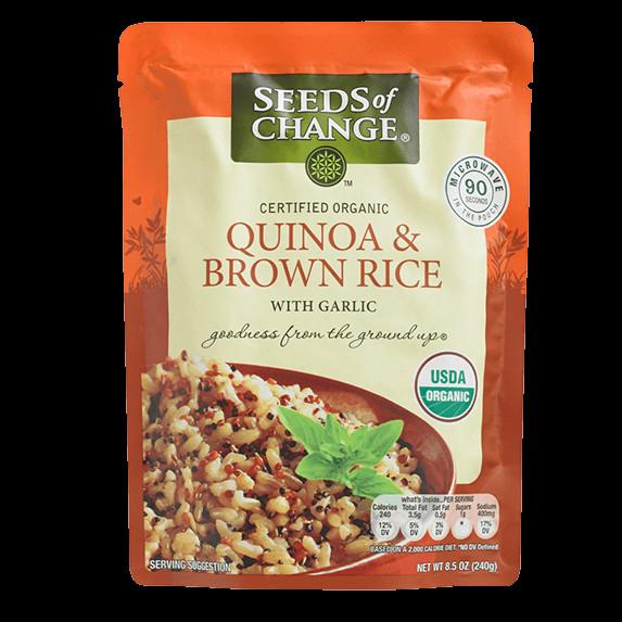 Seeds Of Change Organic Quinoa And Brown Rice  Organic Brown Basmati Microwave Rice
