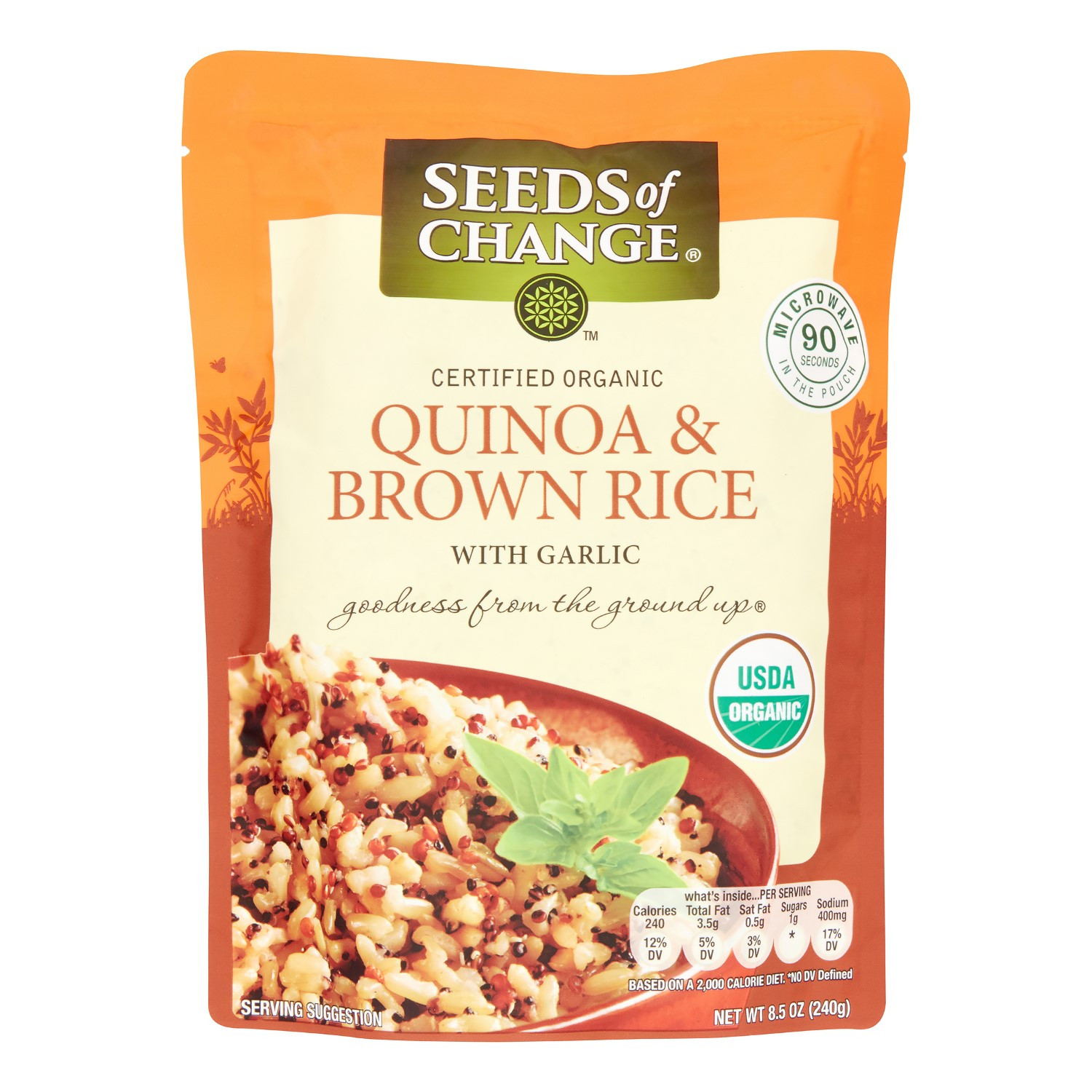 Seeds Of Change Organic Quinoa And Brown Rice  Seeds of Change Seeds of Change Microwavable Quinoa and