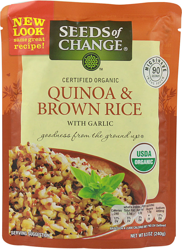Seeds Of Change Organic Quinoa And Brown Rice  Seeds of Change Uyuni Quinoa and Brown Rice with Garlic