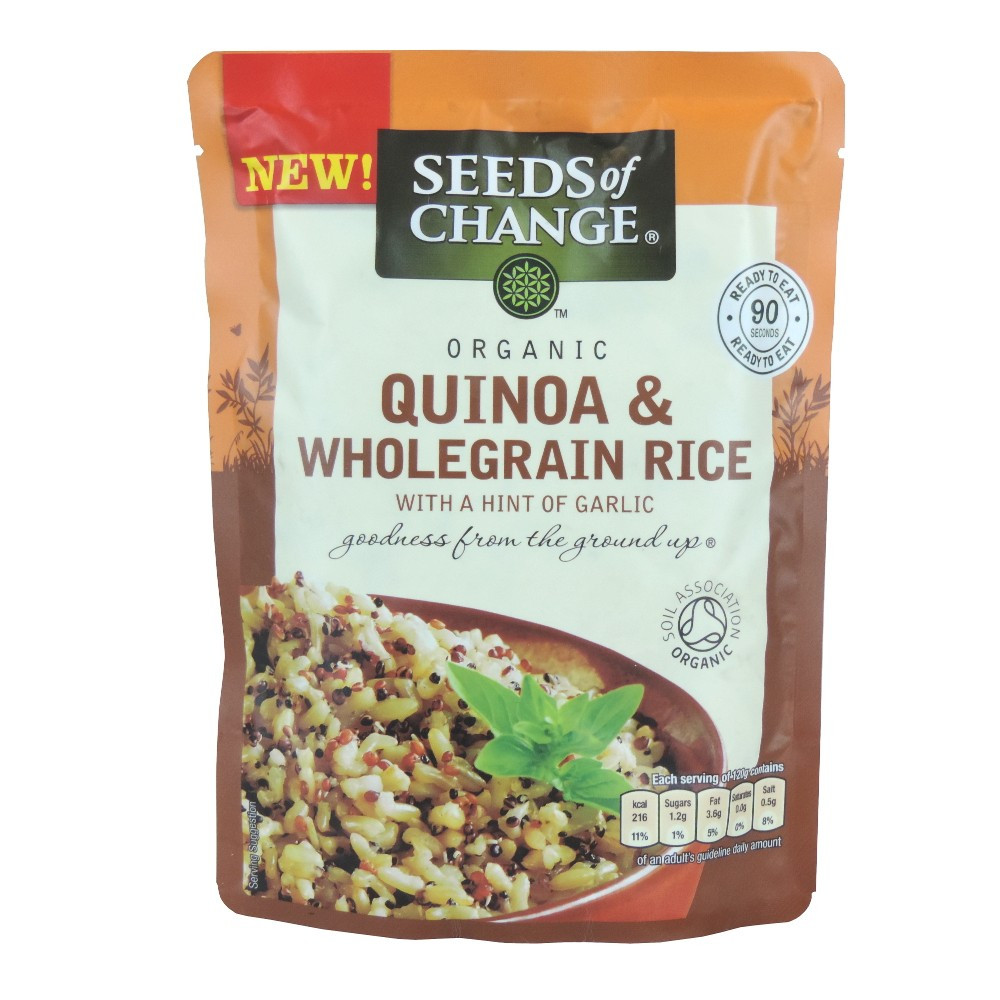 Seeds Of Change Organic Quinoa And Brown Rice  Seeds of Change Organic Quinoa & Wholegrain Rice with a