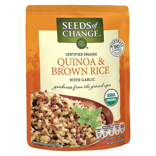 Seeds Of Change Organic Quinoa And Brown Rice  Seeds of Change Organic Quinoa & Whole Grain Brown Rice