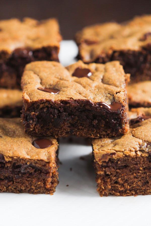 Semi Healthy Desserts  Healthier Chocolate Chip Cookie Bars Primavera Kitchen