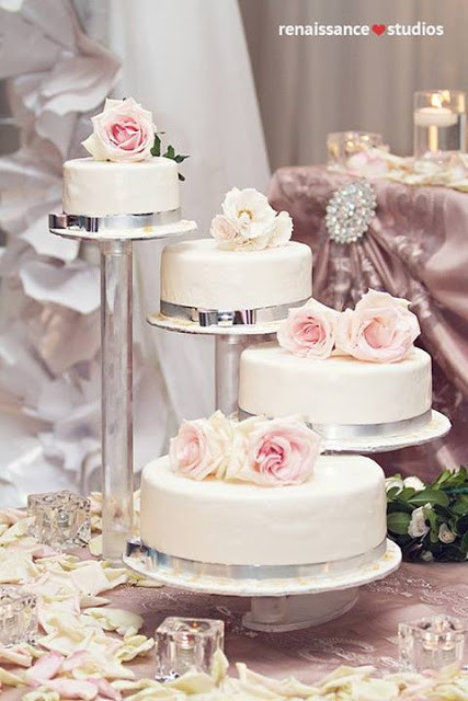Separate Tier Wedding Cakes  Simply Beautiful Weddings Cake Anyone Non Traditional