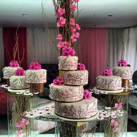 Seperate Tier Wedding Cakes  Nigerian Wedding 25 Stunning Separate Tier Wedding cakes