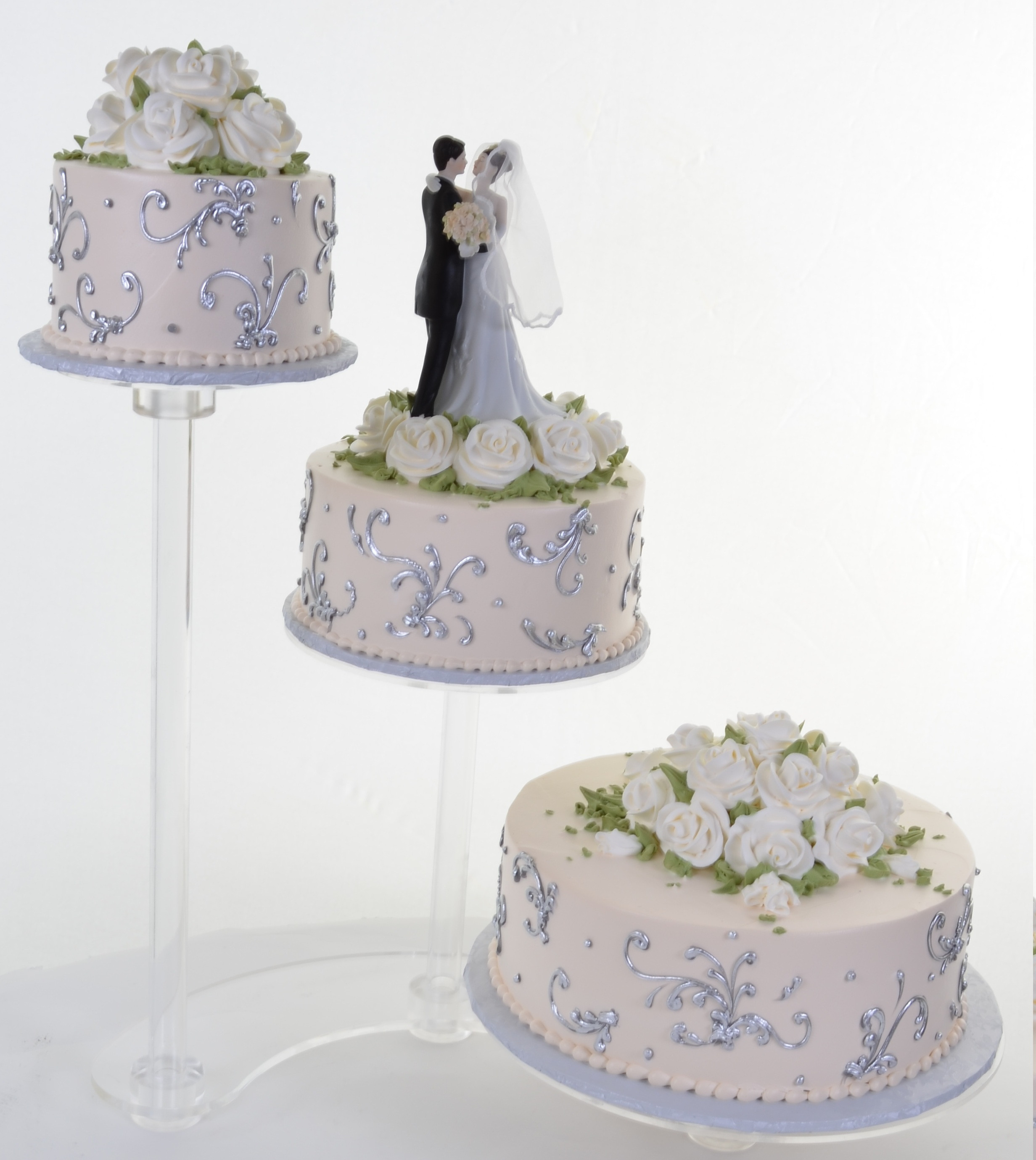Seperate Tier Wedding Cakes  Separate Tier Wedding Cakes