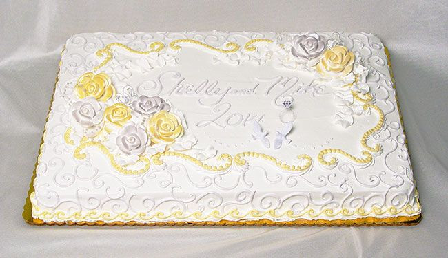 Sheet Cake Wedding  Loving the trend of making one tier double height