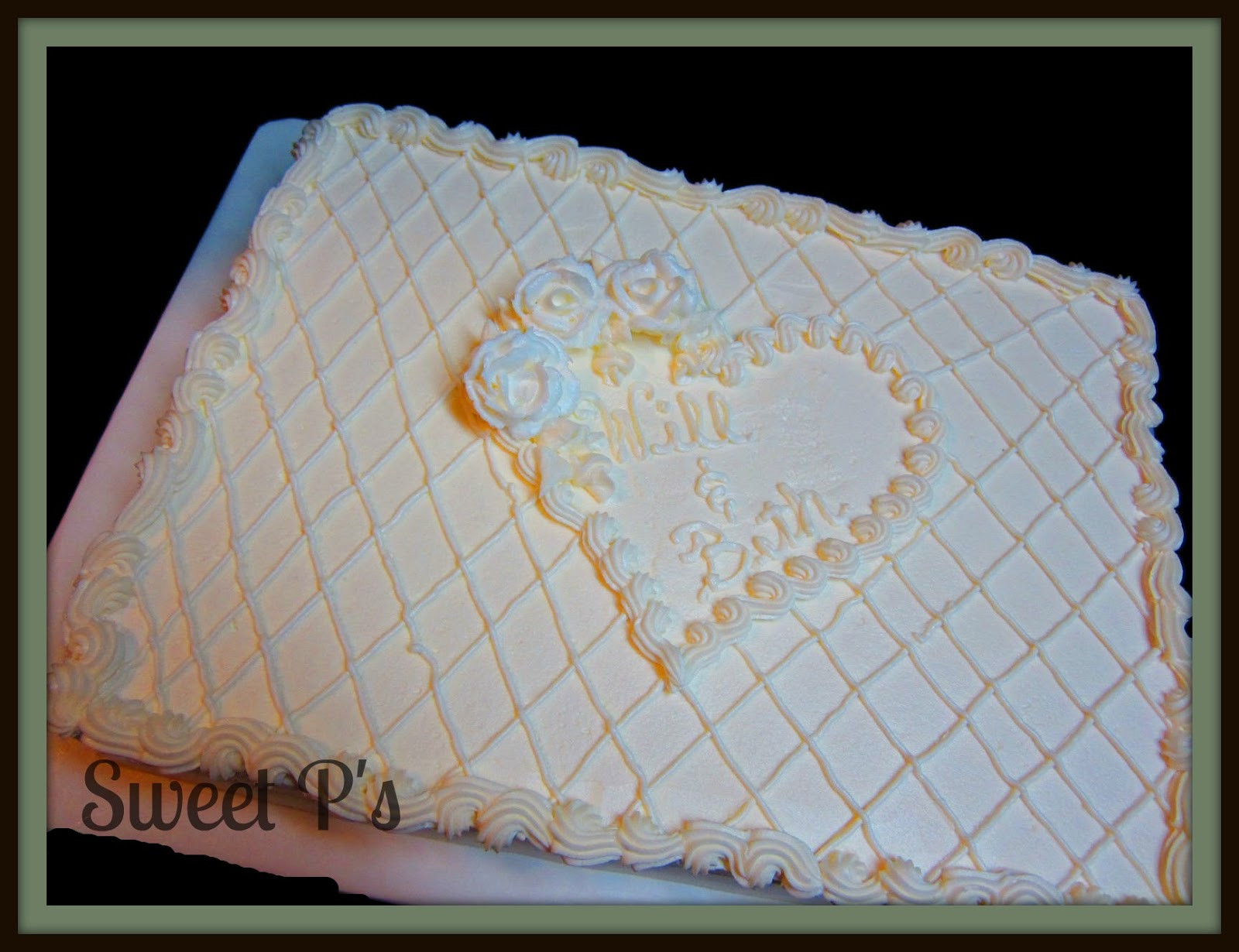 Sheet Cake Wedding  Non Traditional Wedding Cakes