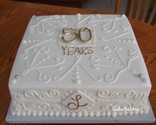 Sheet Cake Wedding  50th Wedding Anniversary Cakes
