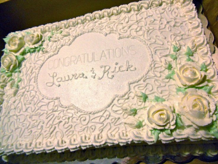 Sheet Cake Wedding  Best 25 Wedding sheet cakes ideas on Pinterest