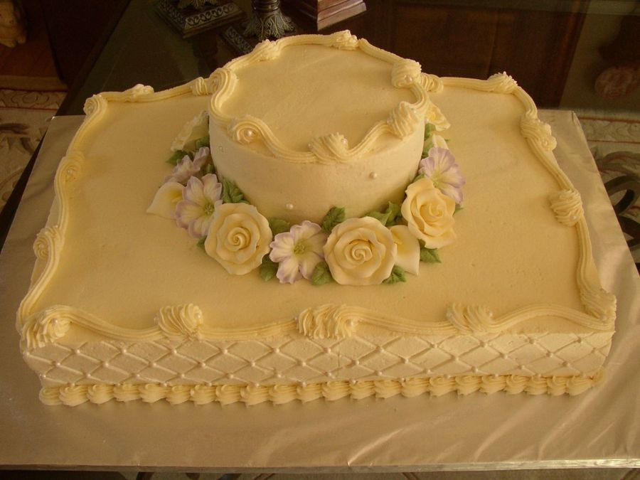 Sheet Cakes For Wedding  Sheet Cake Wedding CakeCentral