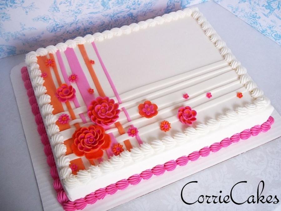 Sheet Wedding Cakes  Wedding Sheet Cake CakeCentral