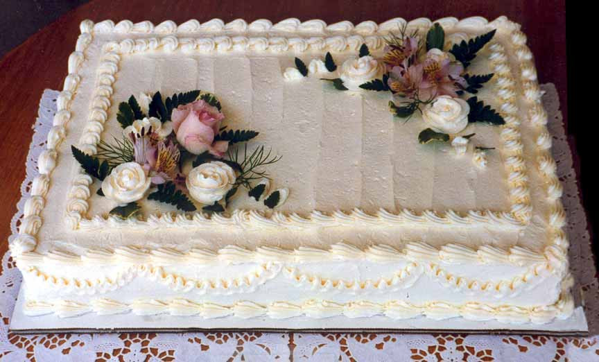 Sheet Wedding Cakes  Wedding Sheet Cakes Decorated With Flowers And Decor Love