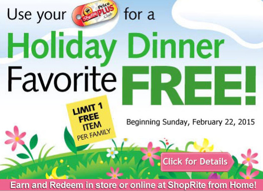 Shoprite Free Easter Ham  ShopRite Free Turkey or Ham Earn a FREE Turkey Ham