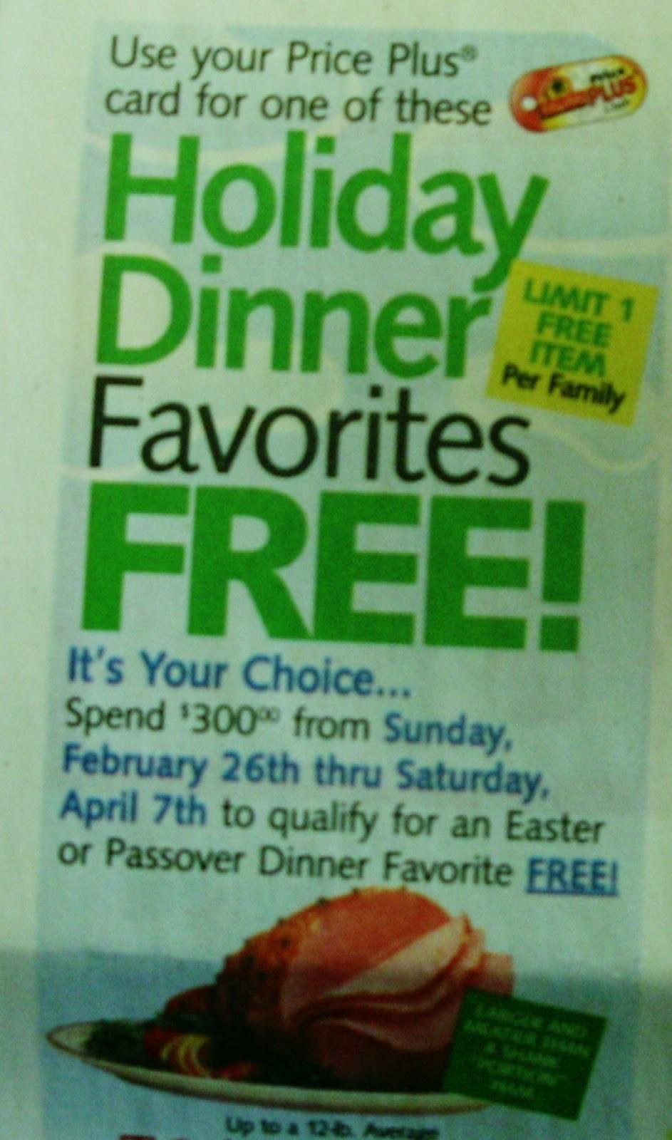 Shoprite Free Easter Ham  ShopRite Easter Passover Dinner Promotion