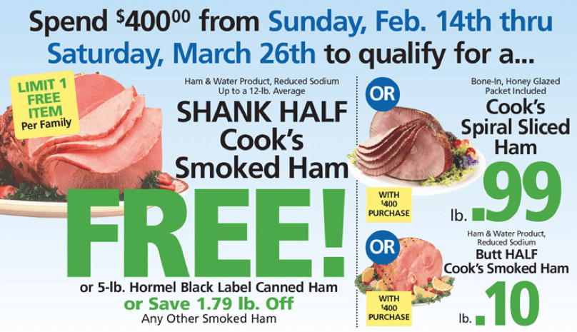 Shoprite Free Easter Ham top 20 Shoprite Holiday Dinner Promo Earn A Free Turkey Ham