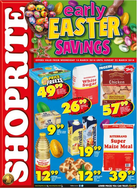 Shoprite Free Ham Easter 2019  Northern Cape Free State Shoprite Early Easter Deals 14