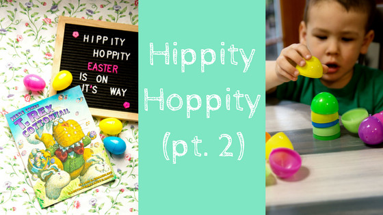 Shoprite Free Ham Easter  Hippity Hoppity pt 2 T Rex Cottontail and Egg Stacking