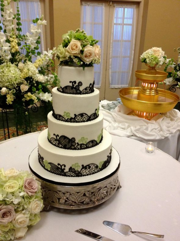 Show Me Wedding Cakes  Show me your fondant free Lace themed wedding cakes please